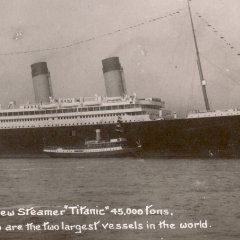 Postkaart Titanic - gepost 10 april 1912